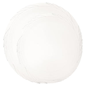 Lightweight Plastic Plates frosty Clear 10""
