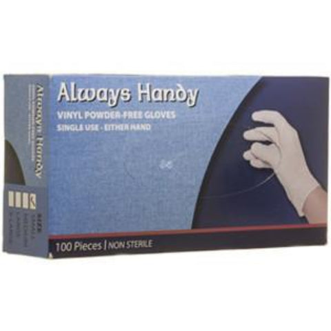 100 PC Vinyl Disposable Gloves - Medium - OnlyOneStopShop