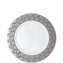 Imperial Crushed Plastic Salad Plates White Silver 7""