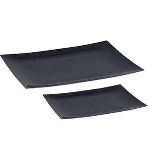 ELEGANT RECTANGULAR BLACK PLASTIC TABLEWARE PACKAGE