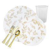 ANTIQUE COLLECTION ELEGANT CLEAR PLASTIC TABLEWARE PACKAGE - OnlyOneStopShop