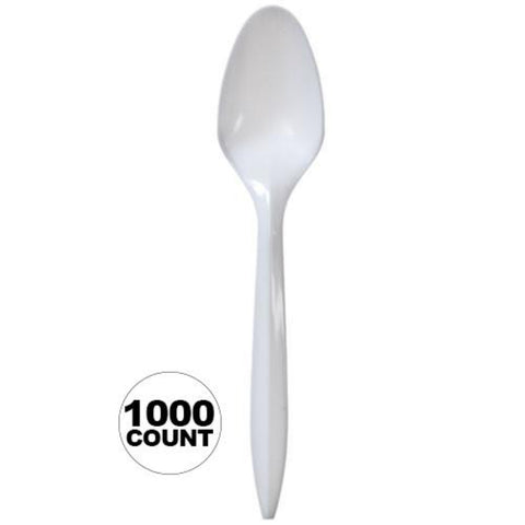 Nicole Home Collection Medium Weight Teaspoon White1000 Ct
