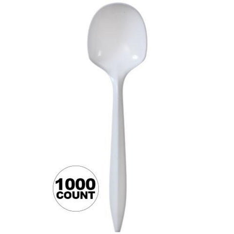Nicole Home Collection Medium Weight Soup spoon White 1000Ct