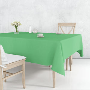 Tablecover Plastic Green Rectangular  54'' X 108''