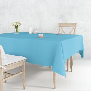 TableCloth Plastic Disposable Round Island Blue 84''