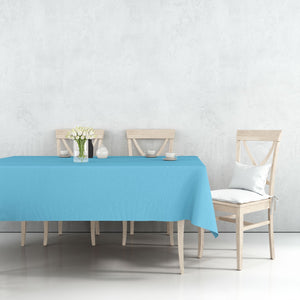 "Disposable Plastic Premium Tablecloth Heavyweight Rectangle Island Blue 54"" x 108"""