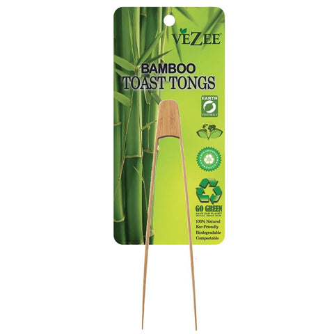 Vezee Bamboo Toast Tongs
