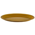 21'' X 14'' Gold Oval Plastic Tray