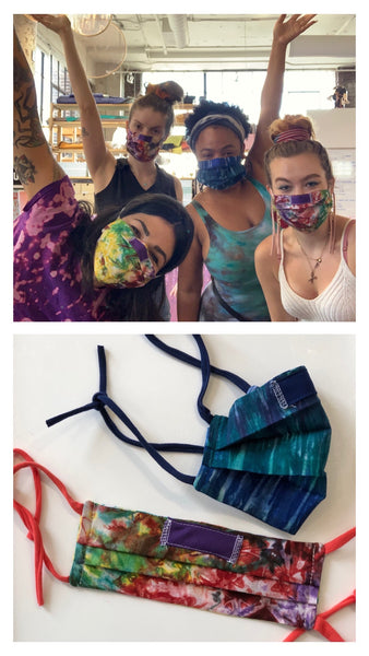 Self Tie Hand Dyed Cloth Masks