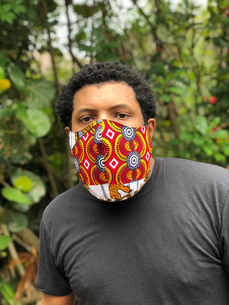 Reversible African Cloth Masks for YOU!