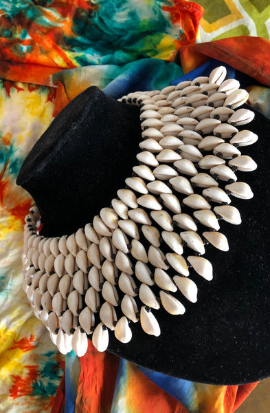 One Off Regal Shell Collar Necklace