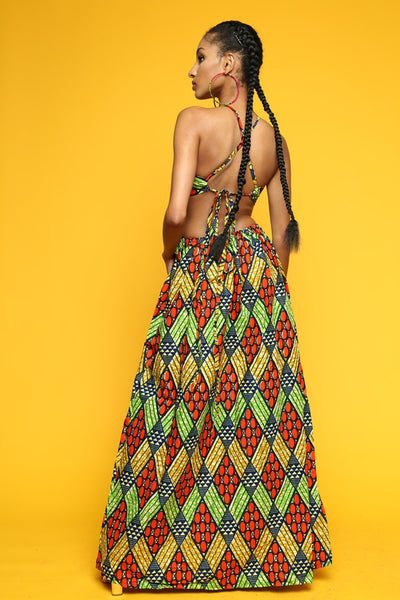 ONE OFF Tribal Pattern Santorini Gown