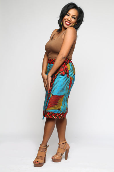 Custom Power Wrap Pencil Skirt