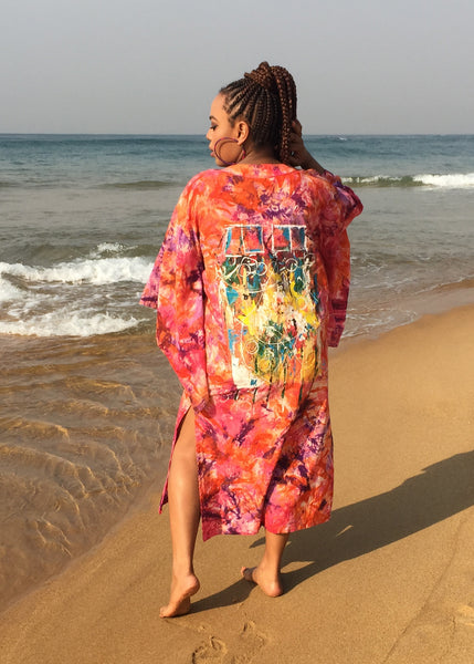 Hand Painted Hand Dyed Kimono