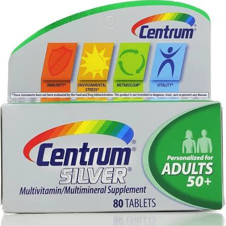 Centrum Silver Adults 50+, 80 tablets