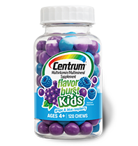 Centrum Flavor Burst Kids, Grape & Blueberry, 120 chewables