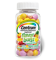 Centrum Flavor Burst Chews, Tropical Fruit, 120 ea