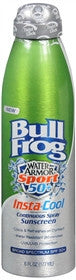 BullFrog Water Armor Sport, Insta-Cool Continuous Spray Sunscreen, SPF 50, 6 oz