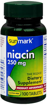 Sunmark Niacin 250mg, 100 Time-Released tablets