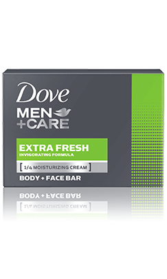 Dove Men+Care Extra Fresh Body & Face Bar 2 pack