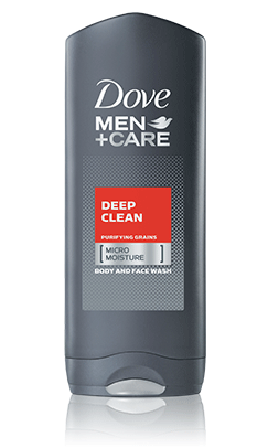 Dove Men+Care Deep Clean Body and Face Wash, 13.5oz