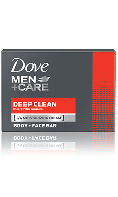Dove Men+Care Deep Clean Body & Face Bar 2 pack, 4.25oz each