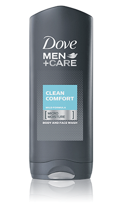 Dove Men+Care Clean Comfort Body & Face Wash, 13.5 oz