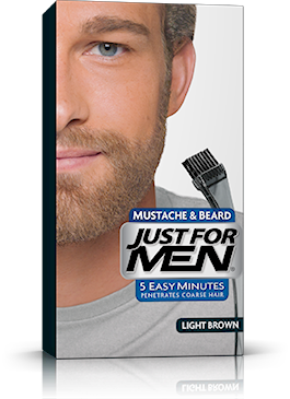 Just For Men Mustache & Beard, Light Brown