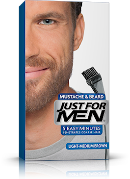 Just For Men Moustache & Beard, Light-Medium Brown
