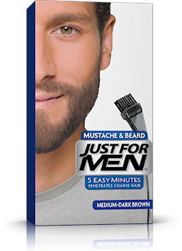 Just For Men Mustache Beard, Medium-Dark Brown