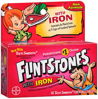 Flintstones Children's Multivitamin, Plus Iron, 60 Chewable Tablets