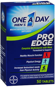 One A Day Men's Pro Edge, 50 tablets