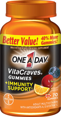 One A Day Vitacraves Gummies + Immunity Support, 70 gummies
