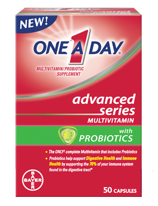 One A Day Advanced Series Multivitamin w/ Probiotics, 50 capsules