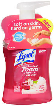 Lysol Touch of Foam Hand Wash, Rose & Cherry in Bloom, 8.5oz