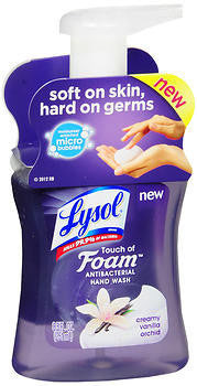 Lysol Touch of Foam Hand Wash, Creamy Vanilla Orchid, 8.5oz