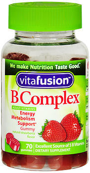 Vitafusion B Complex, Energy Metabolism Support, 70 gummies