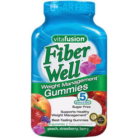 Vitafusion Fiber Well Fit, 90 sugar-free gummies