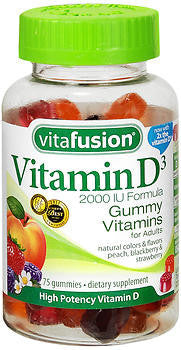 Vitafusion D3 2000 IU Gummy Vitamins, 75 gummies