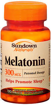 Sundown Naturals Melatonin 300mcg, 120 tabs