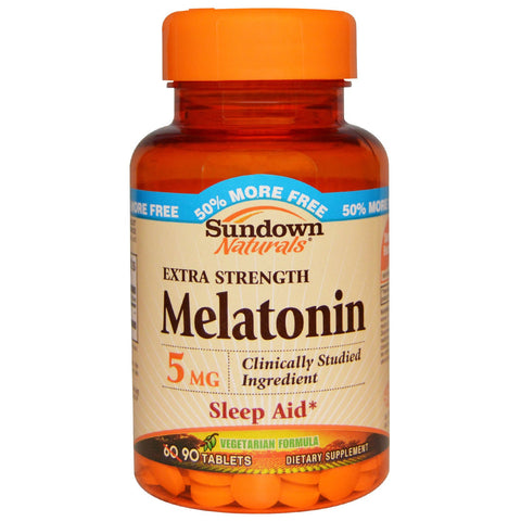 Sundown Naturals Extra Strength Melatonin 5mg, 90 tabs (BONUS SIZE)