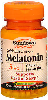 Sundown Naturals Melatonin 5mg, 90 Cherry Flavored microlozengels