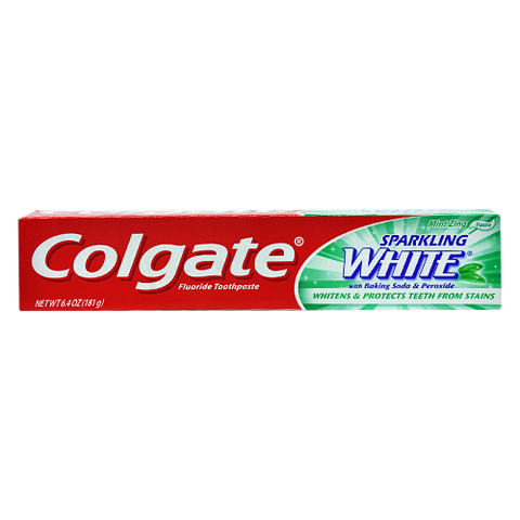 Colgate Sparkling White Toothpaste, Mint Zing, 6.4 oz