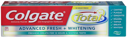 Colgate Total Advanced Fresh + Whitening Gel, 5.8 oz