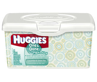 Huggies One & Done Refreshing Wipes, 64 ea