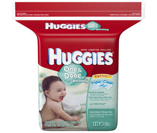 Huggies One & Done Refreshing Wipes, 184 ea