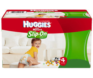 Huggies Little Movers DIapers, Slip-On, Size 4, 92 ea