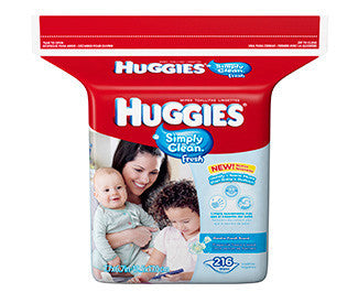 Huggies Simply Clean Baby Wipes, 216 ea