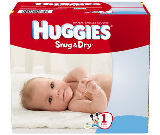 Huggies Snug & Dry Diapers, Size 1, 176 ea