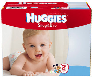 Huggies Snug & Dry Diapers, Size 2, 168 ea